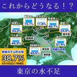 これからどうなる!?関東の水不足。
